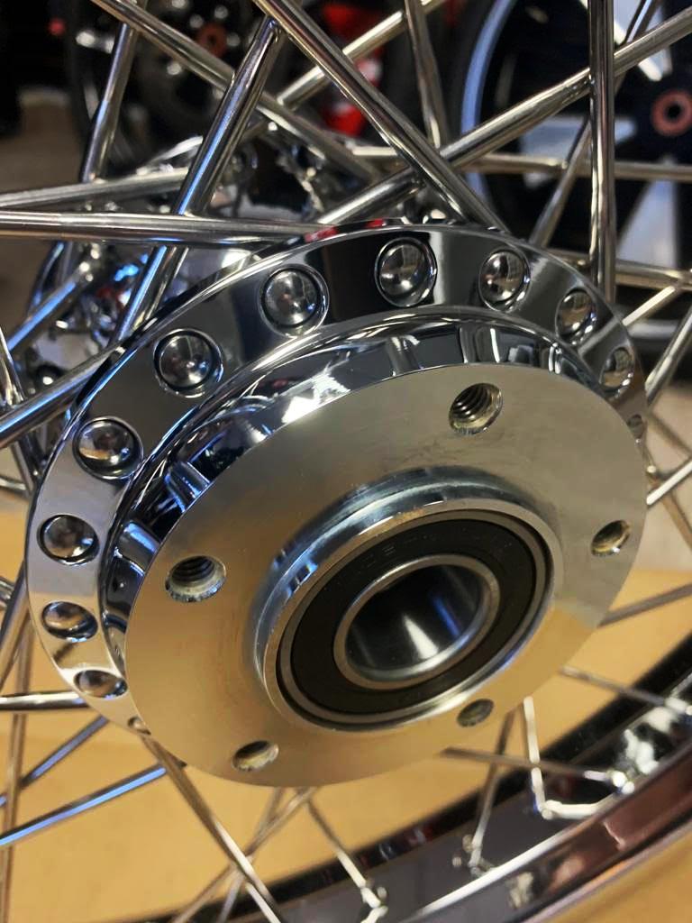 Custom Chrome Ally Motorcycle Rear Wheels