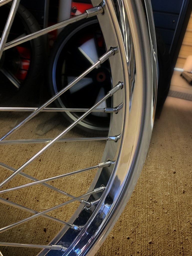 Custom Chrome Ally Motorcycle Wheels